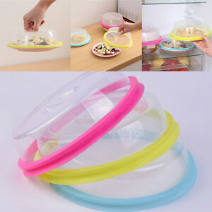 Clear Microwave Food Cover Plate Splatter Protector Plastic Lid for Kitchen