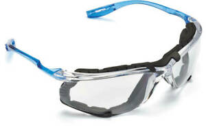 3M Virtua CCS Safety Glasses with Blue Temples Foam Clear Anti Fog Lenses $10.95
