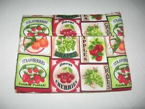 Microwave Baked Potato Bag - Fruit Labels