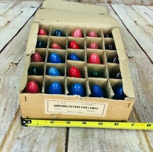 VINTAGE MULTI COLOR CHRISTMAS LIGHT BULBS OUTDOOR 25 Pack nice