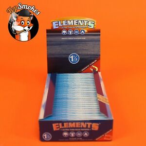 25 Pack 1 Box Elements 1 1 4 1.25 Rolling Paper Ultra Thin Rice Free Shipping $21.99