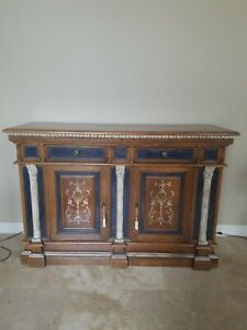 Hekman Furniture Console Cabinet Made In Terrazzo Italy