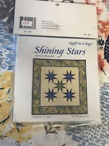 Quilt in a Day Shining Stars Pattern amp; Triangle in a Square Rulers Set Patricia $9.10