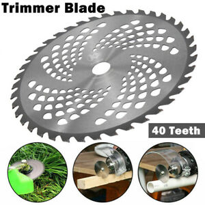 1pcs 10'' 40T Teeth Carbide Tip Blade For Brush Cutter Trimmer Weed Bore 25.4mm