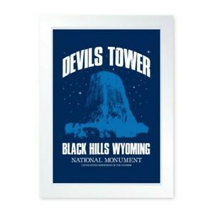 Devils Tower Close Encounters Movie Inspired Quality Framed Print - Man Cave Art