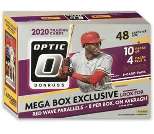 2020 Donruss Optic Baseball Mega Box 1 Auto Per Card Box Parallels New