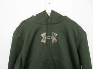 Under Armour Storm Realtree Pullover Hoodie Sweatshirt Camo Green Mens Size 2XL $39.99