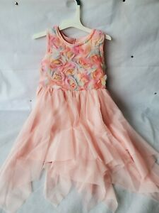 NWT Cat amp; Jack Girls Powder Pink Floral Sleeveless Party Dress Size 5T