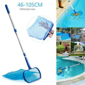 Swimming Pool Net Leaf Rake Mesh Skimmer w/Telescopic Pole Pools Spas Cleaner