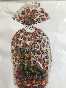 Easter Wrap Gift Basket Bag Clear Eggs Cellophane Bag Tie amp; Tag 22 x 25 X 4