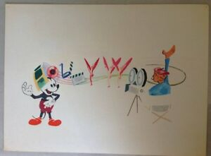 WALT DISNEY Animator Original Drawing Mickey Mouse Hollywood Director Disneyana $2,200.00