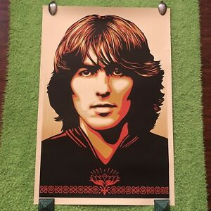 Poster For George Harrison Obey Giant Lithograph print Shepard Fairey Beatles $41.00