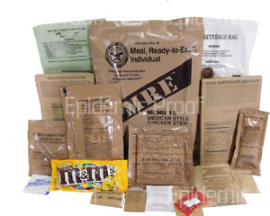 1 INDIVIDUAL GENUINE US MILITARY MRE YOU CHOOSE INSP 2022 MEAL READY TO EAT