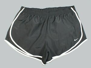 Nike Dri Fit Black White Lined Running Shorts Men's Size XL $19.99