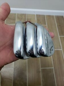 Used RH Callaway Mack Daddy 4 50* 56* 60 Wedge Set Dynamic Gold Tour issues s200