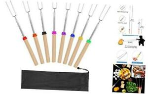 Coindivi Marshmallow Roasting Sticks, Smores Skewers Telescoping Rotating Forks