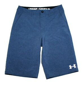 Under Armour Heatgear Loose Fit Blue Stretch Golf Shorts Youth Size 14 27 Waist $23.99