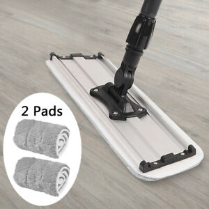 18quot; Microfiber Spray Mop Floor Cleaning Washable Pads Flat Frame Home Floor Dust