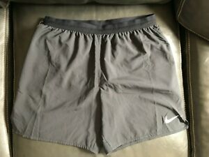 Men's Nike Flex Dri Fit Running Shorts w Reflective Trim Size XL Color Black $16.99