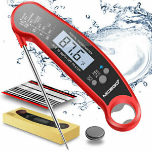 Instant Read Meat Thermometer Digital LCD Cooking BBQ Food Thermometer