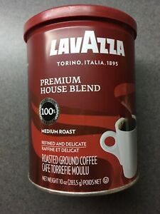 Lavazza 2 pk of 10 oz Premium House Blend Medium Roast Ground Coffee-Exp 8/30/20