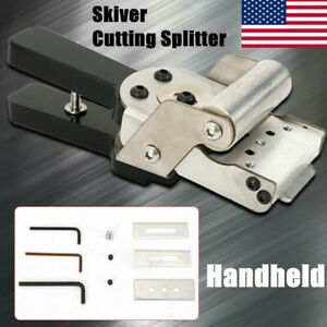 Handheld Skiver Cutting Splitter Cut Leather thinning Skiving Leather Machine US $39.90