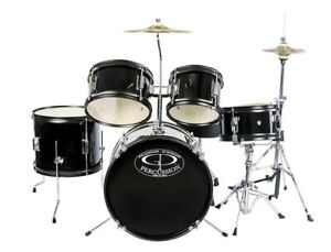 GP55BK GP Percussion 5 Piece Junior Drum Set Black $181.29