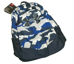Under Armour UA Storm Scrimmage Backpack BLUE WHITE CAMO, Camp Travel School 25L $29.99