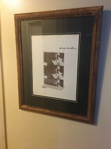 """Andy Warhol Hand Signed Print with COA FRAMED MATTED """"the Kiss"""" 1964 $239.99"""
