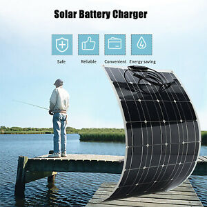 100W Flexible Solar Panel Monocrystalline Battery Charger for Camping Car Boat