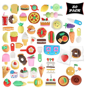 Food Puzzle Erasers for Kids Party Favors and Classroom Prizes - -