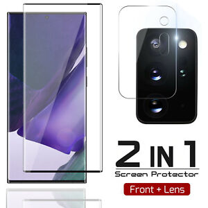 For Galaxy S21 S20 Note 20 Ultra Tempered Glass Screen Protector Camera Lens