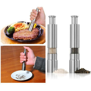 Acrylic Spices Mill Shakers Manual Salt Pepper Grinder Set Spice Mill Grinders