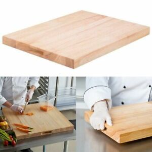 CUTTING BOARD SOLID WOOD Large Commercial Kitchen Restaurant Chop Butcher Block