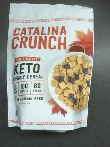 Catalina Crunch 3 pk of 9 oz Maple Waffle Keto Friendly Cereal - Exp 4/6/21