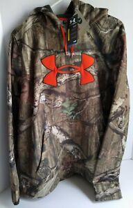 New With Tags Men's Under Armour Hunting Camo Hoodie Hooded Sweatshirt Large $35.00