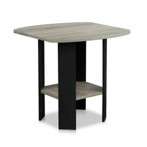 Furinno Simple Design French Oak Grey End Table