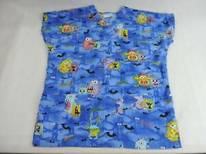 Womens SB Fashion Scrubs Halloween Top Size Small Holiday Good Condition