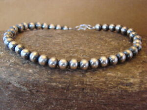 Native Indian Jewelry Hand Strung Silver Desert Pearl Bracelet $39.99
