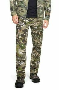 Under Armour Storm Field Ops Hunting Pants Forest Camo Size 38x30 UA1313212 940