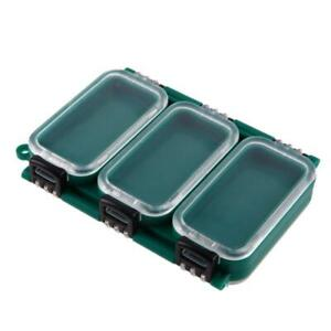 6 Compartment Waterproof Double Sided Fishing Storage Case Lure Box N#S7