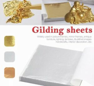 20x SILVER Edible Gilding Leaf Sheets Great For Cakes Edible Silver amp; Gold Leaf
