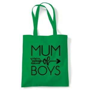 Mum of Boys Arrow Tote Reusable Shopping Canvas Bag Gift Her