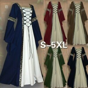 Halloween Women Dress Medieval Maiden Fancy Cosplay Over Victorian Costume $36.99