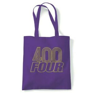 400 Four Classic Biker Tote Reusable Shopping Canvas Bag Gift