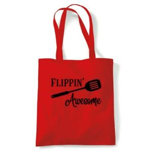 Flippin Awesome Tote Reusable Shopping Canvas Bag Gift