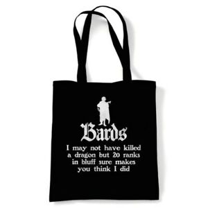 Bards Tote Hobbies DND Geek Reusable Shopping Canvas Bag Gift