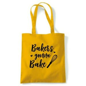 Bakers Gonna Bake Tote Reusable Shopping Canvas Bag Gift