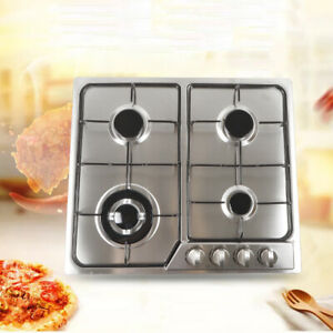 23quot; 4 Burners Gas Hob Cooktop NG LPG Built In Stoves safe and convenient kitchen