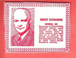1964 MILK CARTON PRESIDENTS DWIGHT EISENHOWER